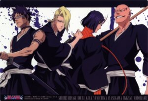 Rating: Safe Score: 4 Tags: ayasegawa_yumichika bleach hisagi_shuuhei kira_izuru madarame_ikkaku male sword User: charunetra
