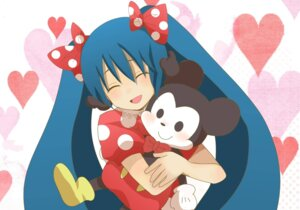 Rating: Safe Score: 4 Tags: cosplay crossover hatsune_miku mickey_mouse_(series) minnie_mouse vocaloid User: Zatsune_Miku