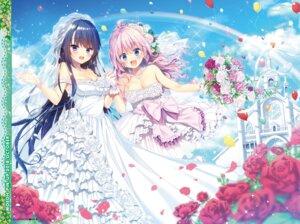 Rating: Safe Score: 47 Tags: cleavage dress possible_duplicate suzushiro_atsushi wedding_dress User: kiyoe