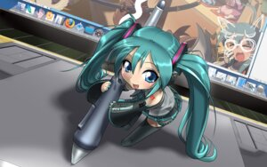 Rating: Safe Score: 14 Tags: chibi cosine hatsune_miku thighhighs vocaloid User: Radioactive