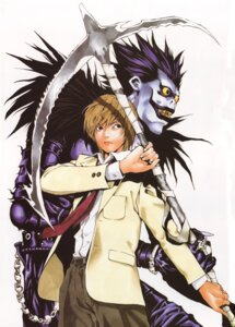 Rating: Safe Score: 7 Tags: death_note male obata_takeshi ryuk yagami_light User: Radioactive