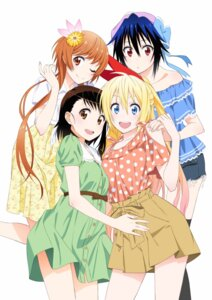 Rating: Questionable Score: 73 Tags: dress jpeg_artifacts kirisaki_chitoge nisekoi onodera_kosaki tachibana_marika thighhighs tsugumi_seishirou User: akagiss