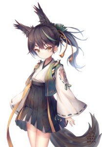 Rating: Safe Score: 10 Tags: animal_ears azur_lane japanese_clothes matsukaze_(azur_lane) sorairo_len tail User: charunetra