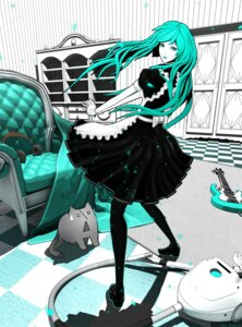 Rating: Safe Score: 23 Tags: arsenixc dress guitar hatsune_miku maid neko pantyhose vocaloid User: charunetra