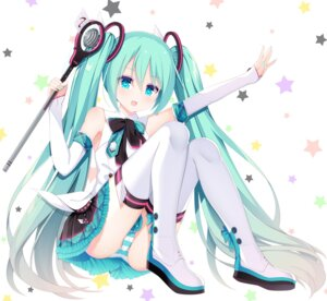 Rating: Questionable Score: 44 Tags: cameltoe hatsune_miku jyt pantsu shimapan tattoo thighhighs vocaloid User: Mr_GT