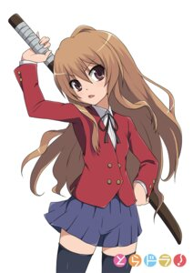 Rating: Safe Score: 30 Tags: aisaka_taiga seifuku ska thighhighs toradora! User: vanilla