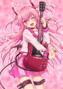 Rating: Safe Score: 52 Tags: angel_beats! guitar imomu seifuku yui_(angel_beats!) User: D-king