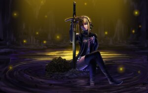 Rating: Safe Score: 46 Tags: fate/stay_night fate/zero maisaki saber sword thighhighs wallpaper User: fairyren