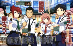Rating: Safe Score: 17 Tags: gun iwaizumi_shou koumi_haruka minakami_rondo rail_wars! sakurai_aoi_(rail_wars!) takayama_naoto uniform User: drop