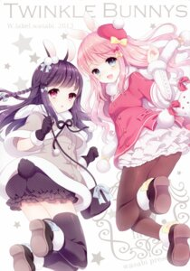 Rating: Safe Score: 69 Tags: animal_ears pantyhose thighhighs w.label wasabi_(artist) User: yong