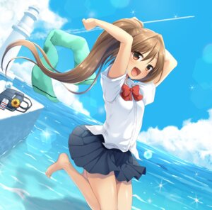 Rating: Safe Score: 19 Tags: .banbanshi seifuku skirt_lift summer_point tagme User: BattlequeenYume