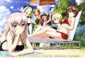 Rating: Questionable Score: 29 Tags: assam bikini calendar cleavage darjeeling girls_und_panzer itsumi_erika nishizumi_maho orange_pekoe rosehip swimsuits tagme User: drop