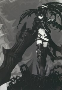 Rating: Safe Score: 24 Tags: black_rock_shooter black_rock_shooter_(character) huke insane_black_rock_shooter monochrome thighhighs vocaloid User: Radioactive