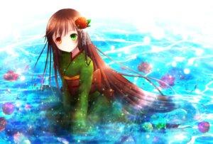 Rating: Safe Score: 19 Tags: amano_sora heterochromia kimono rozen_maiden suiseiseki User: 椎名深夏