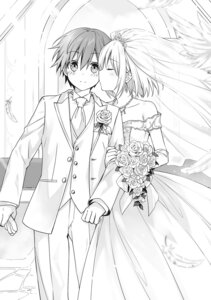 Rating: Safe Score: 16 Tags: date_a_live dress itsuka_shidou monochrome tobiichi_origami tsunako wedding_dress User: kiyoe