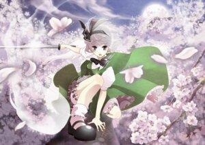 Rating: Safe Score: 12 Tags: bloomers edensapple konpaku_youmu myon sword touhou User: Mr_GT