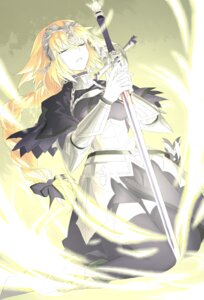 Rating: Questionable Score: 17 Tags: armor fate/apocrypha fate/grand_order fate/stay_night jeanne_d'arc jeanne_d'arc_(fate) sword thighhighs User: kiyoe
