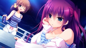 Rating: Safe Score: 55 Tags: ayashiro_kagari cleavage front_wing game_cg innocent_girl nanaca_mai User: Maxpayness