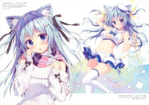 Rating: Questionable Score: 51 Tags: animal_ears cleavage nekomimi pantsu ryohka sweater tail thighhighs User: Nepcoheart