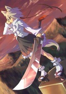 Rating: Safe Score: 13 Tags: animal_ears inubashiri_momiji kiyoshi sword touhou User: hirotn