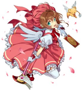 Rating: Safe Score: 20 Tags: card_captor_sakura dress kero kinomoto_sakura nozo_(hibi_tsurezure) thighhighs weapon wings User: charunetra