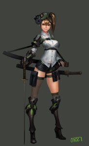 Rating: Safe Score: 22 Tags: armor bra heels midfinger22 see_through sword thighhighs wet User: Brufh