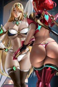 Rating: Questionable Score: 49 Tags: ass bikini_armor hikari_(xenoblade_2) homura_(xenoblade_2) thighhighs thong xenoblade xenoblade_chronicles_2 zumi_(zumidraws) User: BattlequeenYume