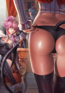 Rating: Questionable Score: 89 Tags: ass cleavage dantewontdie koakuma megane pantsu patchouli_knowledge remilia_scarlet tail thighhighs touhou User: Mr_GT