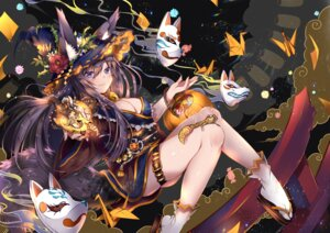 Rating: Safe Score: 64 Tags: animal_ears duji_amo garter halloween japanese_clothes kitsune tail witch User: RyuZU