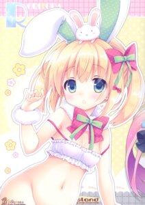 Rating: Questionable Score: 19 Tags: animal_ears bottomless bra bunny_ears cleavage roritora tagme tsukishima_yuuko User: Radioactive