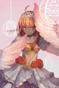 Rating: Safe Score: 25 Tags: cleavage dress kobuta monster_girl wings User: Mr_GT