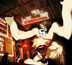 Rating: Questionable Score: 9 Tags: asgr gun monster seifuku sword thighhighs User: yumichi-sama