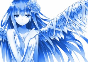 Rating: Safe Score: 63 Tags: dress mogumo monochrome wings User: 椎名深夏