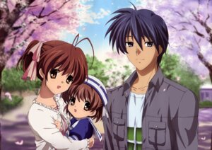 Rating: Safe Score: 30 Tags: clannad clannad_after_story furukawa_nagisa hikiyama_kayo okazaki_tomoya okazaki_ushio seifuku User: Sakura18