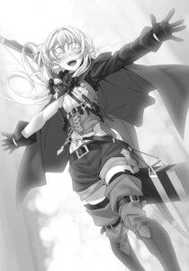 Rating: Safe Score: 23 Tags: elf goblin_slayer high_elf_archer kannatsuki_noboru monochrome pointy_ears thighhighs weapon User: kiyoe