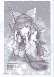 Rating: Safe Score: 15 Tags: an2a hakurei_reimu monochrome touhou wind_mail User: sdlin2006
