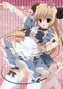 Rating: Safe Score: 38 Tags: animal_ears inugami_kira maid neko tail thighhighs User: Hatsukoi