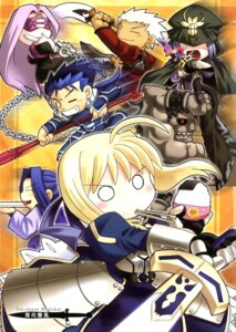 Rating: Safe Score: 10 Tags: archer assassin_(fsn) berserker caster chibi fate/stay_night lancer namikai_harukaze rider saber screening User: SubaruSumeragi