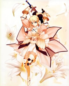 Rating: Safe Score: 49 Tags: fate/stay_night fate/unlimited_codes moriya saber saber_lily sword takeuchi_takashi type-moon User: ushas