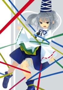 Rating: Questionable Score: 19 Tags: 3d_(sand) bondage mononobe_no_futo see_through touhou User: Mr_GT