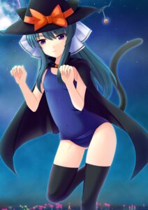 Rating: Safe Score: 22 Tags: animal_ears halloween kitsune_neko nekomimi school_swimsuit swimsuits tail thighhighs User: blooregardo