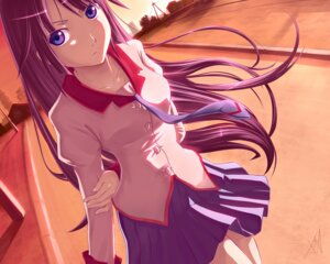 Rating: Safe Score: 46 Tags: atomix bakemonogatari senjougahara_hitagi wallpaper User: Radioactive