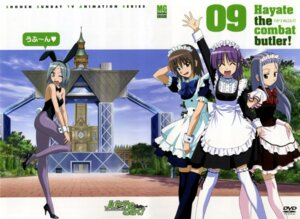 Rating: Safe Score: 7 Tags: animal_ears asakaze_risa bunny_ears bunny_girl disc_cover hanabishi_miki hayate_no_gotoku katsura_yukiji maid segawa_izumi thighhighs waitress User: Radioactive