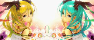 Rating: Safe Score: 20 Tags: akita_neru hatsune_miku redjuice vocaloid wallpaper User: mikkinightcore