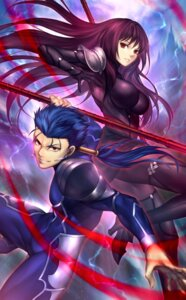 Rating: Safe Score: 9 Tags: armor bodysuit fate/grand_order heels lancer nasaniliu scathach_(fate/grand_order) weapon User: mash