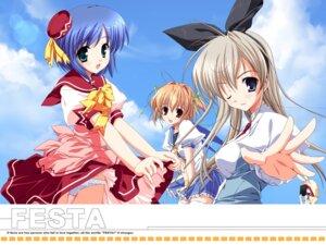 Rating: Safe Score: 18 Tags: chikami_nanako festa!!_-hyper_girls_pop- hagiwara_onsen hayasaka_remi lass mikeou pantsu seifuku shidou_ayane wallpaper User: Radioactive