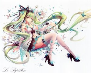 Rating: Safe Score: 105 Tags: cleavage hatsune_miku heels thighhighs tid vocaloid User: yong