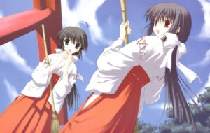 Rating: Safe Score: 23 Tags: miko nanao_naru shirakawa_sayaka suika User: fireattack