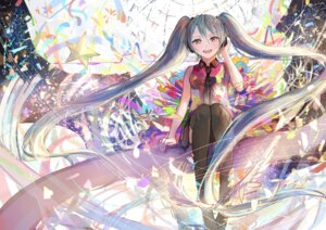 Rating: Safe Score: 45 Tags: hatsune_miku headphones jpeg_artifacts sishenfan tell_your_world_(vocaloid) thighhighs vocaloid User: mattiasc02