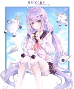 Rating: Safe Score: 33 Tags: azur_lane myless pantyhose seifuku skirt_lift sweater unicorn_(azur_lane) User: yanis